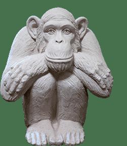 скульптура обезьяна