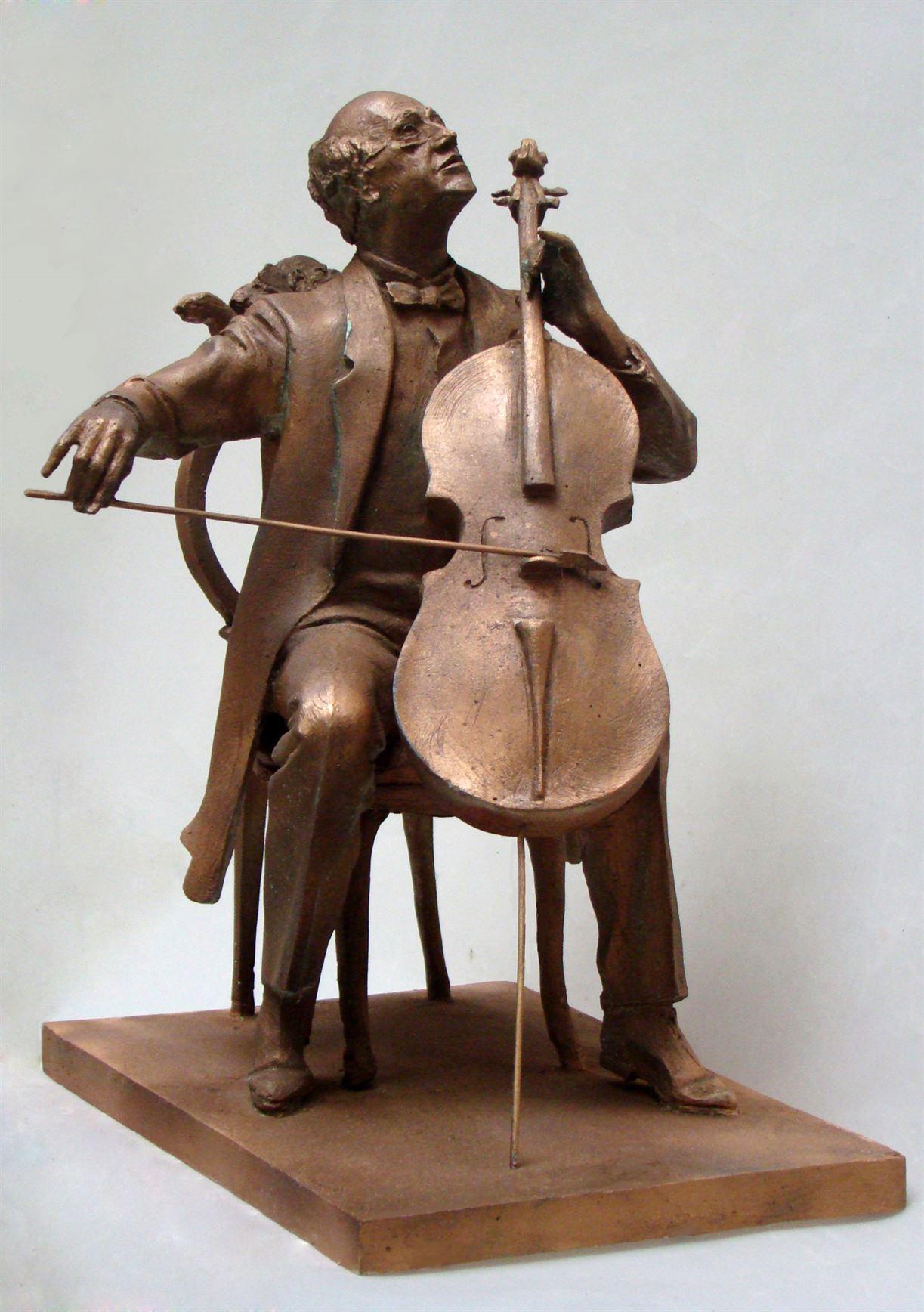 скульптура музыкант