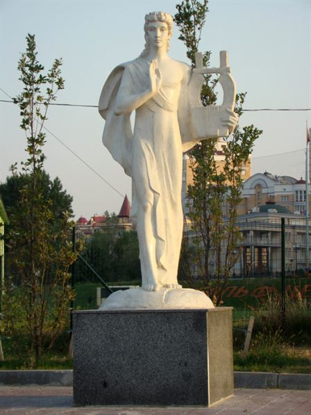 А. Леонов. Аполлон. Аллея муз в г. Киеве Искусственный камень