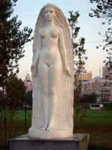 Муза Скульптуры (Взгляд из Атлантиды). Аллея муз Искусственный камень