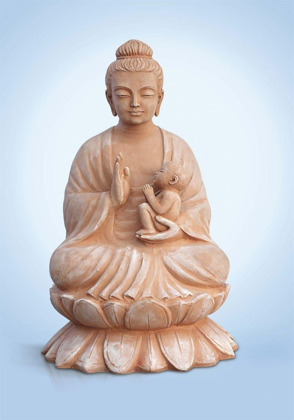 скульптура будда с ребенком