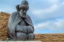 Памятник Руми из бронзы