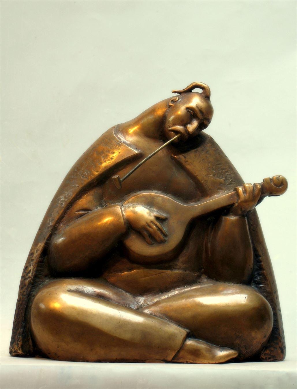 бронзовая скульптура козак мамай