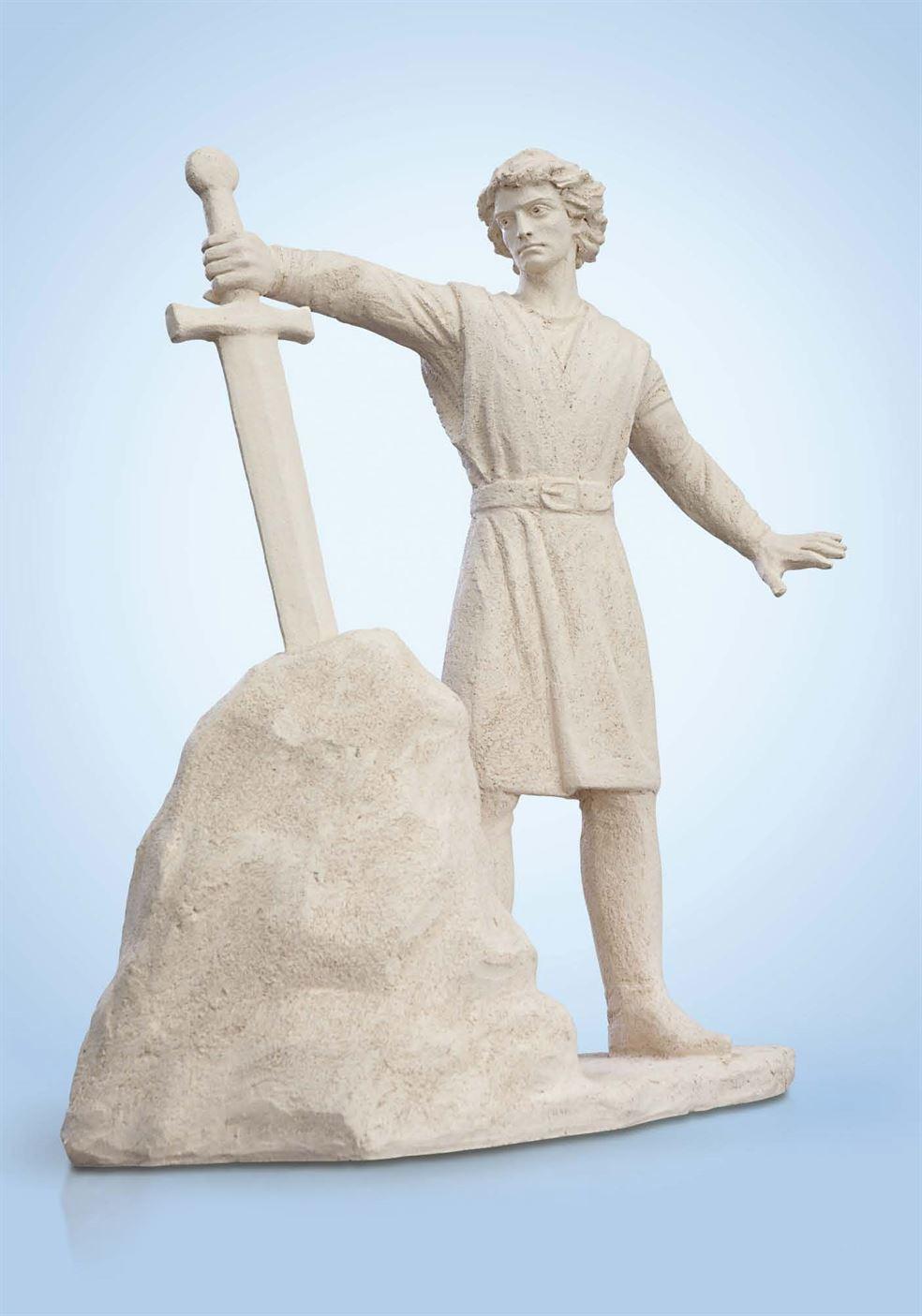 скульптура меч в камне