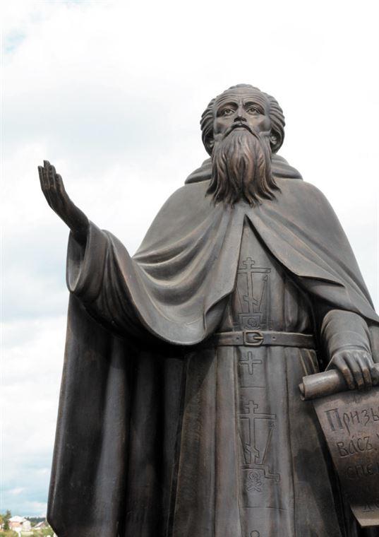 Пам'ятник преподобному Пафнутію Боровському поблизу Покровської церкви в м. Боровськ. 2016. - 24 2 768x1086