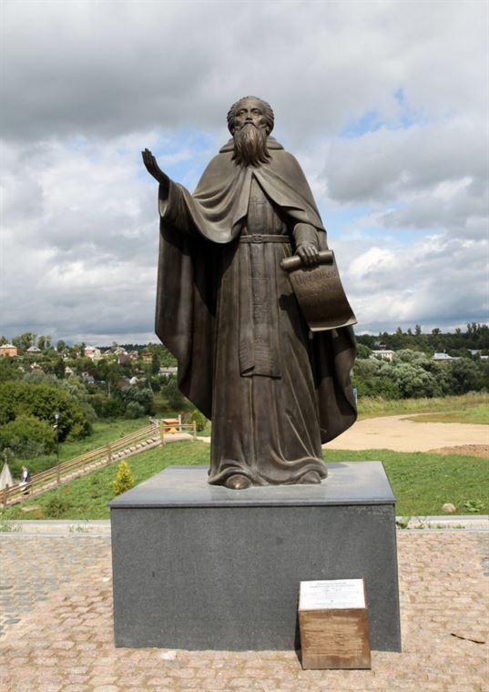 Пам'ятник преподобному Пафнутію Боровському поблизу Покровської церкви в м. Боровськ. 2016. - 24 3 768x1086