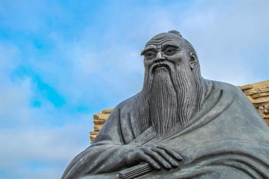 """Lao Tzu monument from the composition """"Four Wise Men"""" on the territory of «Etnomir» - Cultural and Educational Center. 2012. - IMG 3473 768x512"""
