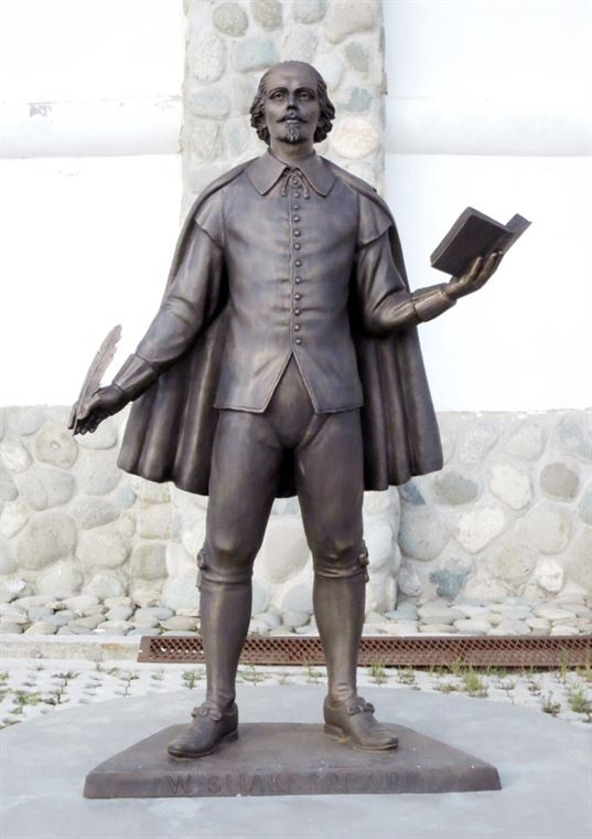 William Shakespeare monument on the territory of the ETNOMIR  Cultural and Educational Center . - 13 2 768x1086