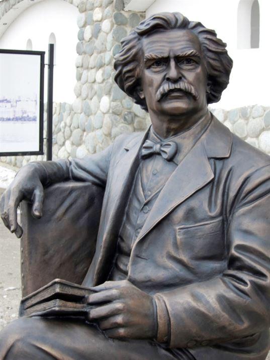 Памятник Марку Твену  на территории  Культурно-образовательного центра «Этномир». - 18 2 768x1024