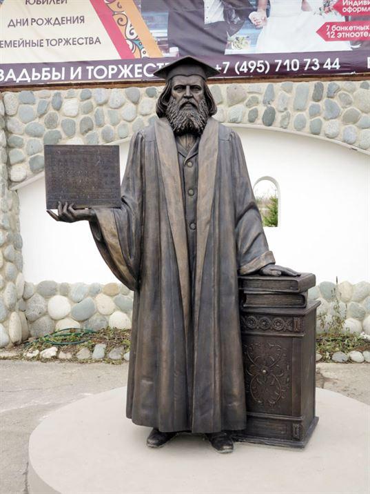 Памятник Д.И. Менделееву на территории  Культурно-образовательного центра «Этномир». - 20 768x1024