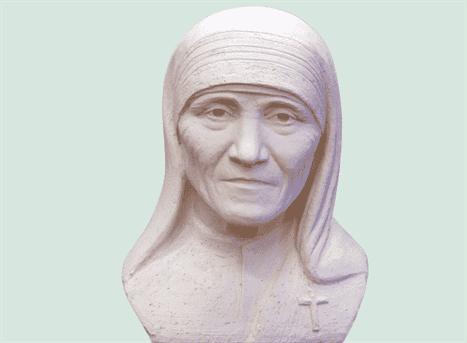 Мать Треза, скульптура
