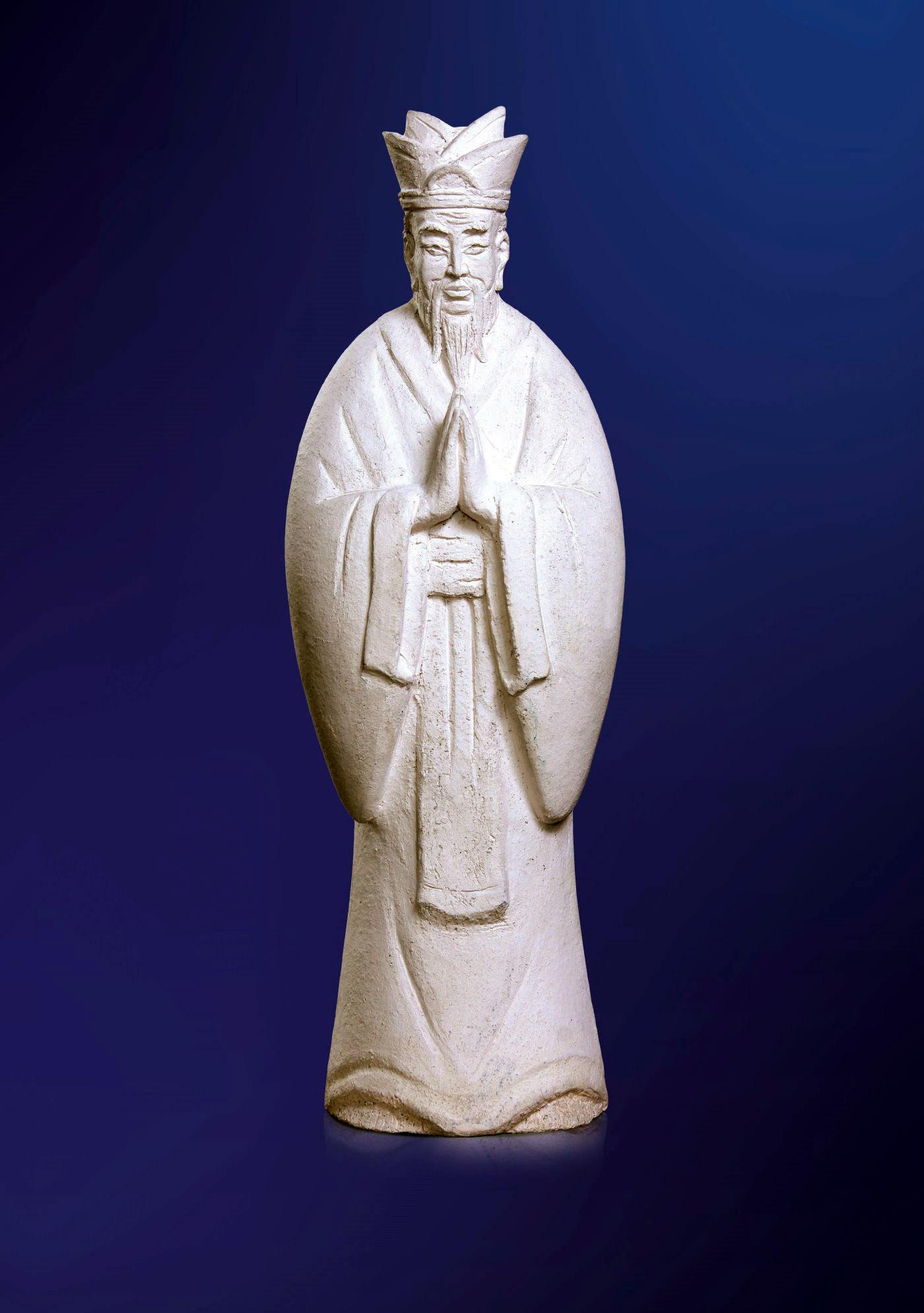 Конфуций. 2004, Шамот. 61 х 21 х 16