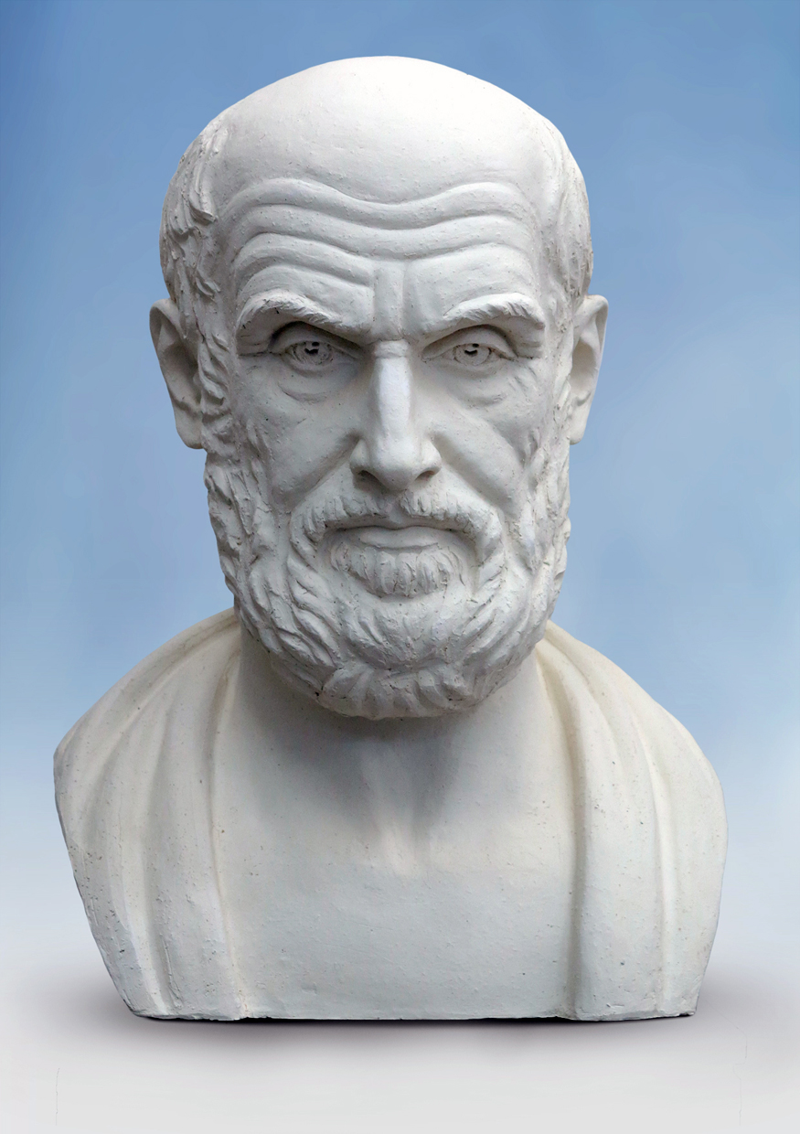 "HIPPOCRATES. 2014. Exhibition ""Great Teachers of humanity"". ETNOMIR Cultural Education Center - gippokrat"