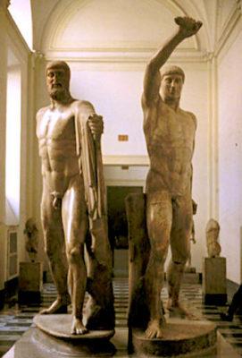 Скульптура мужчины в искусстве Античной Греции - harmodius and aristogeiton 271x400